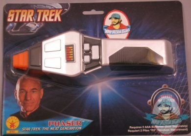 star trek the next generation phaser by rubies man of action figures