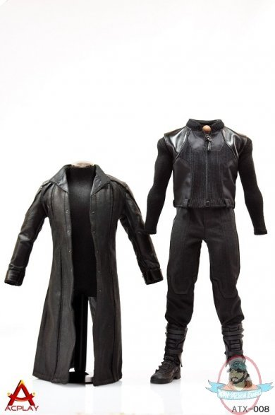 Acplay 1 6 Accessories Leather Coat Suit Amp Samuel Character Head Man Of Action Figures
