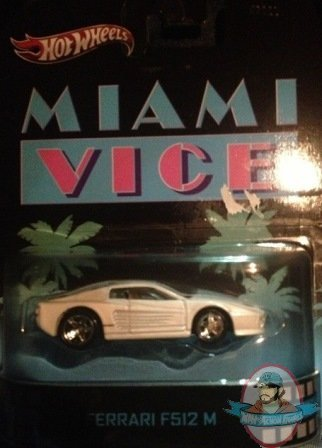 164 Scale Hot Wheels Miami Vice Ferrari F512 M By Mattel