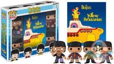 Pop The Beatles Set Of 4 Vinyl Figures Amp Book Gift Set By