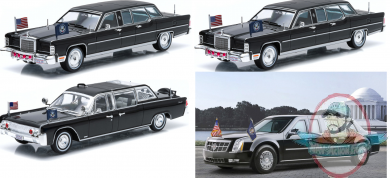 Captivating 1:43 Presidential Limos Series 1 Set Of 4 Greenlight Pictures