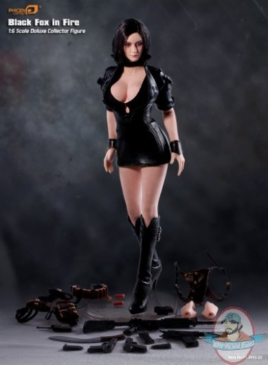 1 6 Scale Limited Black Fox In Fire Action Figure By