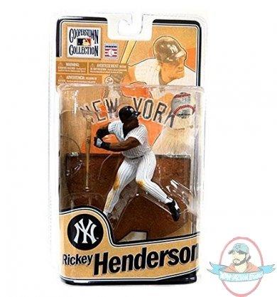 RICKY HENDERSON COOPERSTOWN 8 WHITE JERSEY MCFARLANE NEW YORK YANKEES