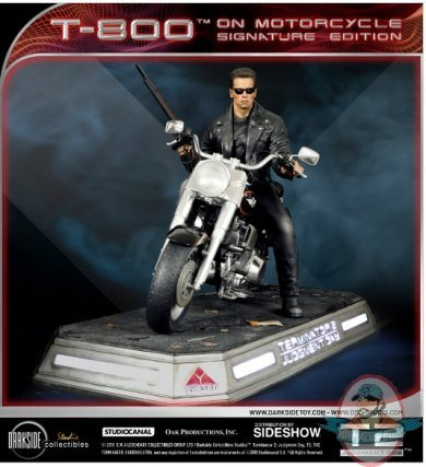 1/4 Scale Terminator T-800 on Motorcycle Statue 905456 ...