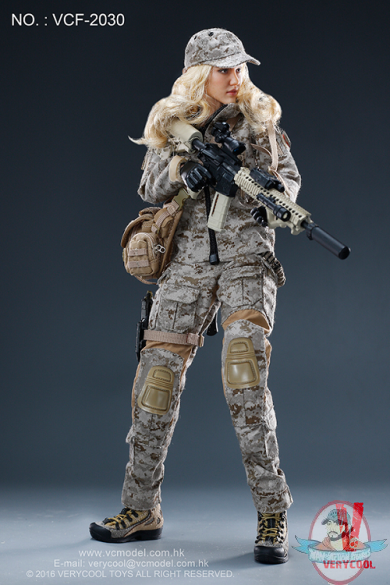 clips cover 1//6 Scale VERYCOOL VCF-2030 Digital Camouflage Women Soldier MAX