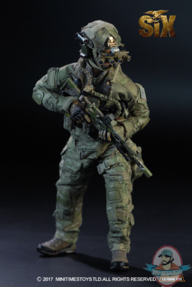 MINI volte US Navy Seal Team Six M010 Pistola /& Fondina Loose SCALA 1//6th