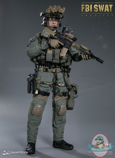 Dam 1:6 Elite Series Fbi Swat Team Agent San Diego DAM-78044A | Man of Action Figures