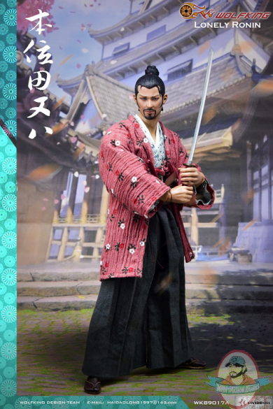 1/6 Scale Wolf King Lonely Ronin Japanese Samurai WK89017A