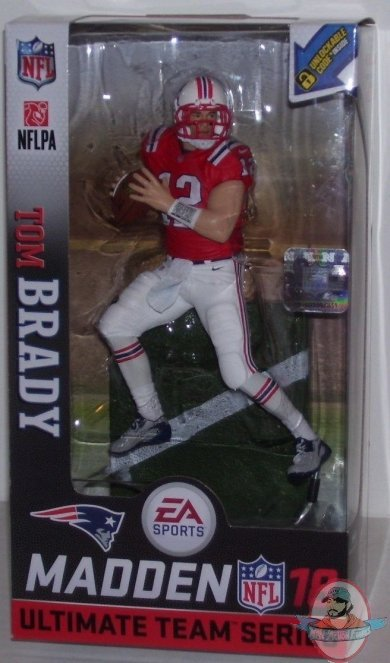 e7d4c339 NFL 18 EA Madden Series 1 Tom Brady Retro Uniform McFarlane   Man of ...