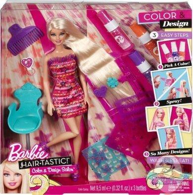 Color And Design Salon Barbie.Barbie Hairtastic Color Design Salon Doll By Mattel Man
