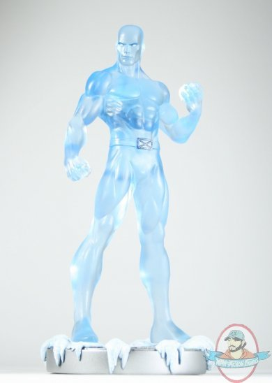 Marvel Clear Iceman Statue 12 Inch Exclusive By Bowen