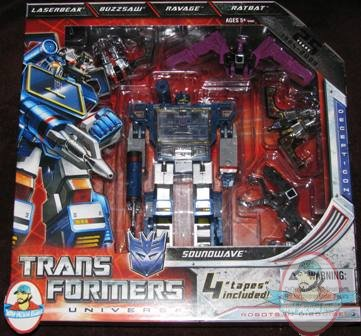 Sdcc Soundwave 25th 4 Cassettes In Stock Transformers