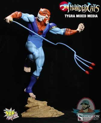 Thunder Cats Tygra on Thundercats Tygra Mixed Media Statue By Pop Culture Shock   Man Of