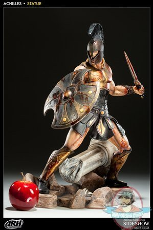 Achilles Battle Fury Polystone Statue 19 Inch Tall By Arh