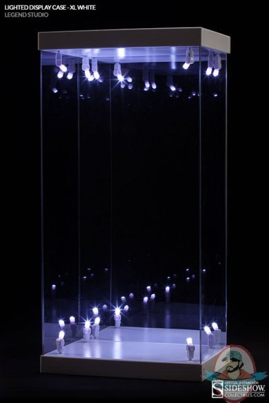 1 4 Scale Lighted Display Case White X Large Size Legend
