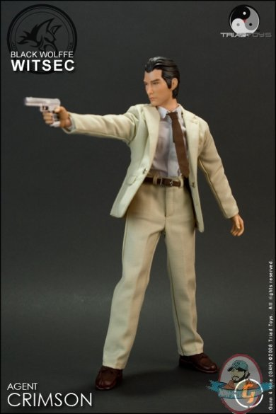 agent crimson witsec 12 inch collectible figure by triad