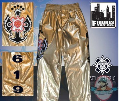 Wwe Rey Mysterio Kid Size Gold Replica Pants Man Of