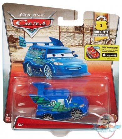 Disney Cars Die Cast Dj Vehicle Short Card By Mattel Man Of