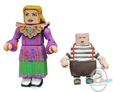 Alice through the Looking Glass Minimates Series 1 Ribbon Alice /& Tweedledum