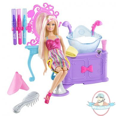 Barbie Hairtastic Color And Wash Salon With Doll