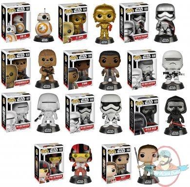 Pop Star Wars The Force Awakens Episode Vii Set Of 11