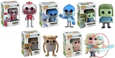 Pop Television Regular Show Set Of 5 Vinyl Figure By