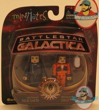 Felix Gaeta /& Specialist Cally Tyrol Battlestar Galactica Minimates Series 4 Lt