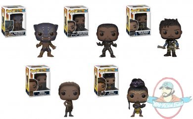 0077531a926 Pop! Marvel Black Panther Set of 5 Vinyl Figures by Funko in stock!!