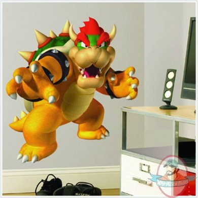 Super mario bros bowser giant wall decals by roommates man of action figures - Super mario giant wall decals ...