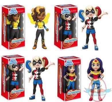 "FUNKO ROCK CANDY DC SUPERHERO GIRLS BUMBLEBEE 5/"" DESIGNER VINYL FIGURE"