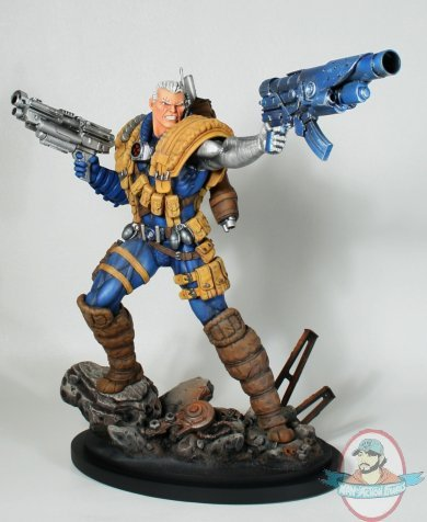 Marvel Cable Classic Statue By Bowen Designs Used Man Of