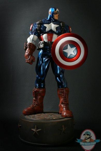 Ultimate Captain America Metallic Variant Statue By Bowen