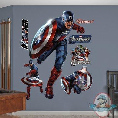 Fathead marvel avengers captain america the first avenger for Avengers wall mural amazon