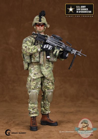 Us Army Saw Gunner In Afghanistan Crazy Dummy 1 6 Scale