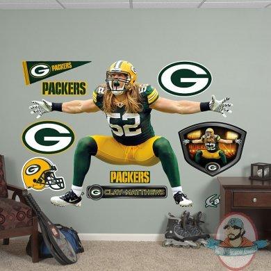 Fathead Clay Matthews Sack Celebration Green Bay Packers NFL | Man ...