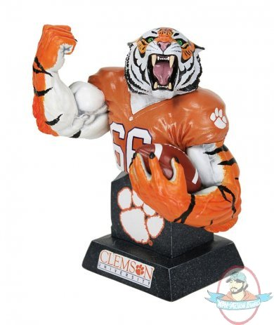 Clemson Tigers Football Mascot Collectible Bust Man of Action Figures
