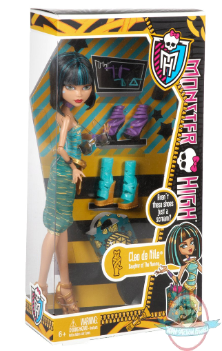Monster High Cleo de Nile I Love Shoes Doll by Mattel  Man of