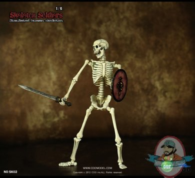 Coo Model 1 6 Scale Skeleton Soldiers Action Figure Man Of Action Figures
