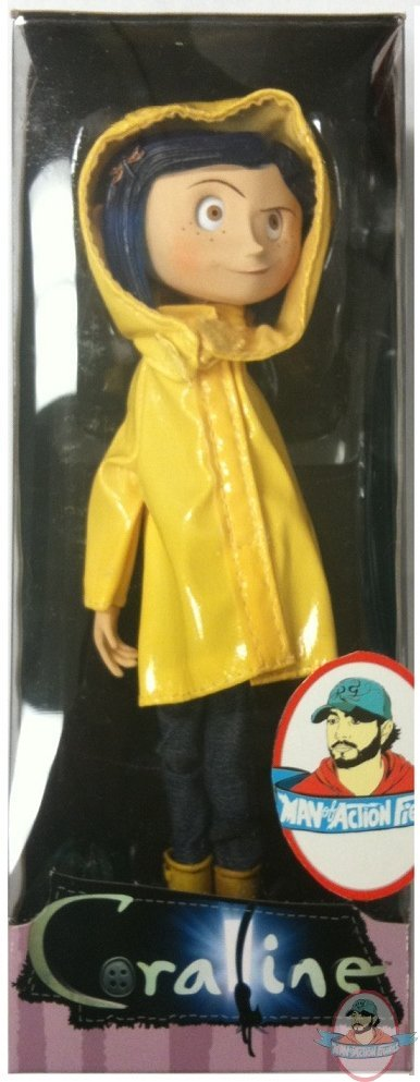 Coraline Raincoat Bendy Doll By Neca Man Of Action Figures