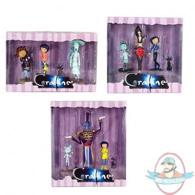 Coraline Set Of 3 Pvc 3 Inch Figure 3 Packs By Neca Man