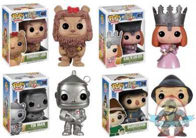 Wizard Of Oz Set Of 7 Pop Movies Vinyl Figure By Funko