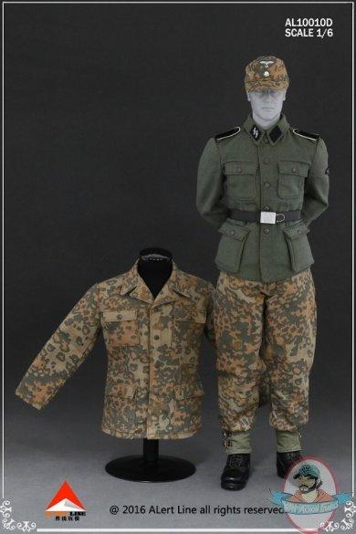 1 6 Scale Wehrmacht Camouflage Uniform Suit Al 10010d Alert Line Man Of Action Figures