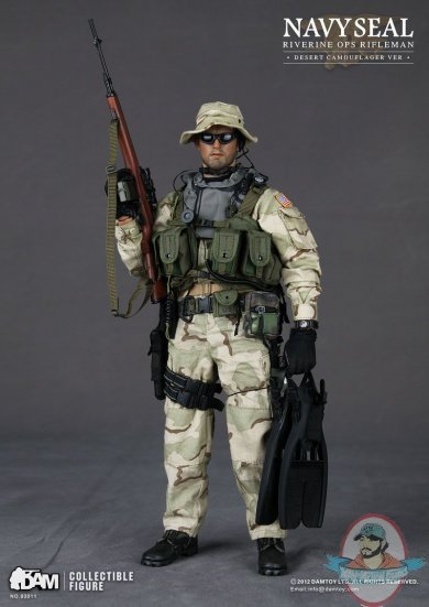 16 scale navy seal riverine ops rifleman desert camo by