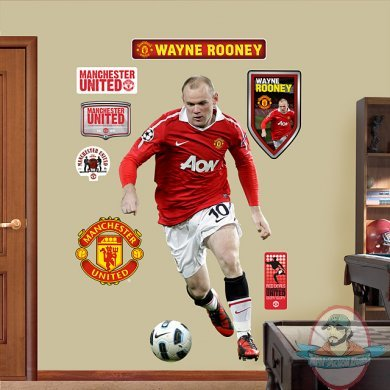 Fathead Wayne Rooney Manchester United Man Of Action Figures