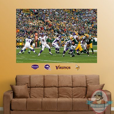 Brett Favre Vs The Packers Mural Minnesota Vikings Nfl