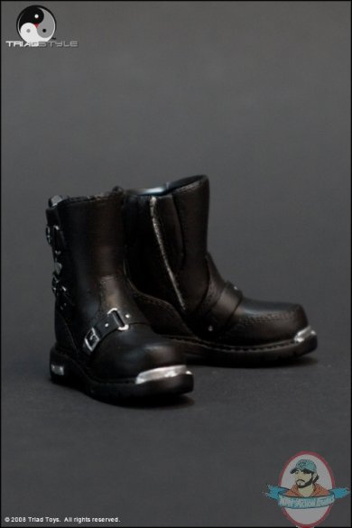 1 6 Scale Female Biker Boots For 12 Inch Figures By Triad
