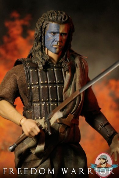 1 6 Scale Custom Scottish Freedom Warrior War Paint