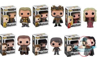 Pop Game Of Thrones Series 2 Set Of 6 Vinyl Figure Funko
