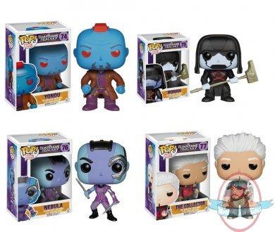 pop! marvel guardians of the galaxy set of 4 bobble head funko | man