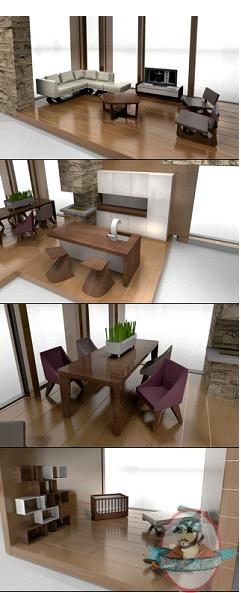 classic contemporary doll house furniture set by brinca dada brinca dada bennett house modern dolls